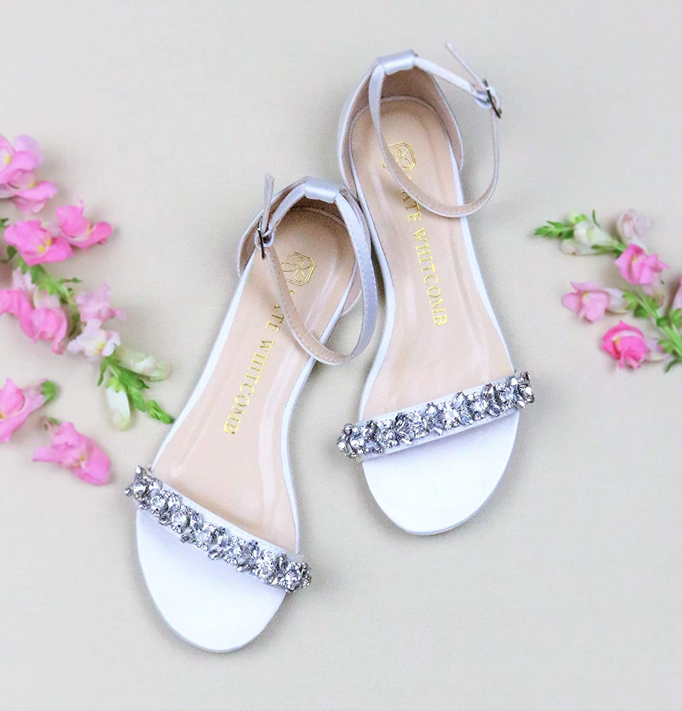 Amazon Com Flat Wedding Shoes Style Finn In Ivory Handmade