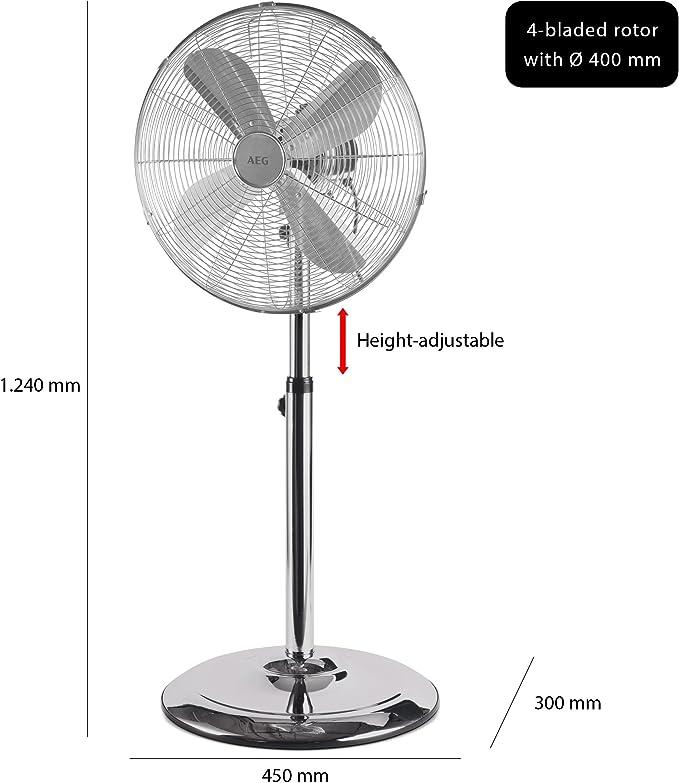 AEG 520031, Ventilador de pie oscilante, de metal, 40 cm de ...