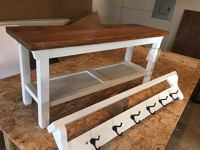 Amazon Hallway Mud Room Foyer Bench 40 Reduced Height Magnificent Standard Height For Coat Rack