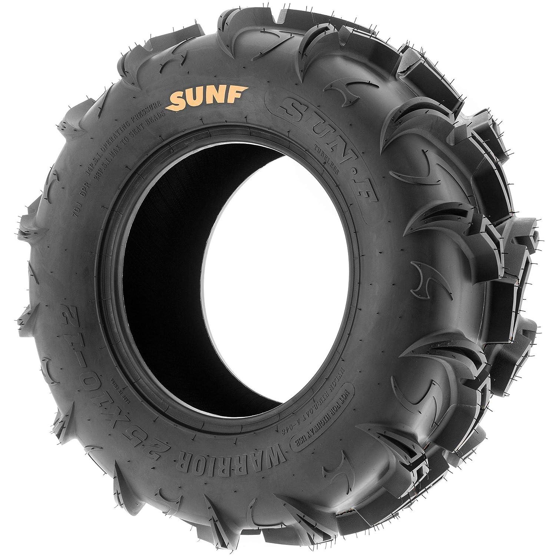 6 PR Tubeless A048 Pair of 2 SunF Warrior AT 25x10-12 ATV UTV Mud /& Trail Tires