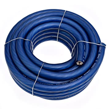 Amazon Com Conext Link  Awg Ga Full Gauge Battery Power Cable Ground Wire Frost Blue Ofc Copper Car Electronics