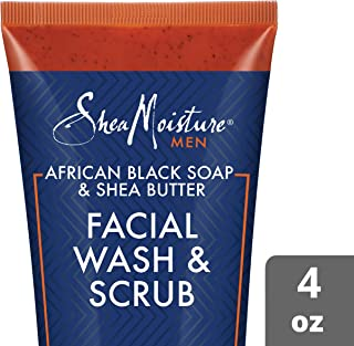 product image for SheaMoisture Face Wash & Face Scrub for Men African Black Soap Face Cleanser with Shea Butter 4 oz (M-BB-2980)