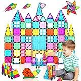 Landtaix Kids Magnet Tiles Toys 2020 New Upgrade 100Pcs Oversize 3D Magnetic Building Blocks Tiles Set,Inspirational Educatio