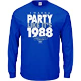 Smack Apparel LA Baseball Fans. I Wanna Party Like It's 1988. Blue T-Shirt (Sm-5X)