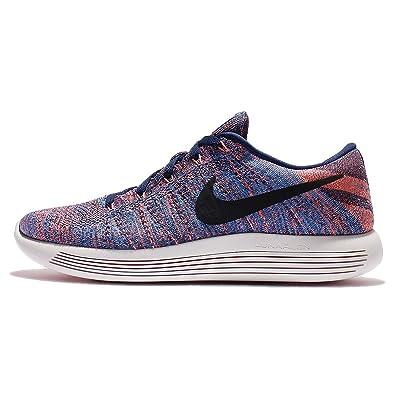 best sneakers fc077 96510 Nike Lunarepic Low Flyknit Mens Running Trainers 843764 Sneakers Shoes (US  8, Loyal Blue Black Glow 400)