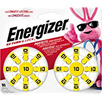 Energizer Hearing Aid Batteries Size 10, EZ Turn & Lock (16 Battery Count)