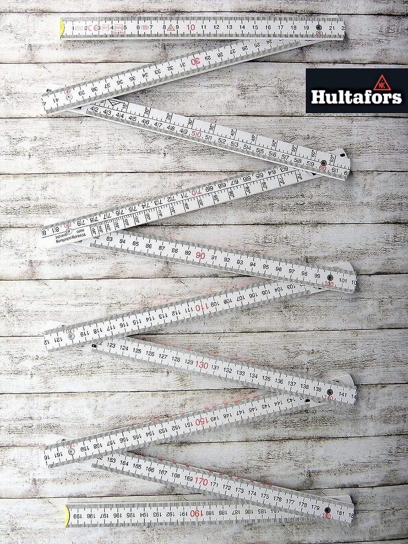 10 unidades, 2 m, madera color rojo Hultafors Metro plegable