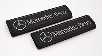 M.Benz Car Seat Belt Cover Pads Shoulder Cushion for Mercedes Benz 2pcs