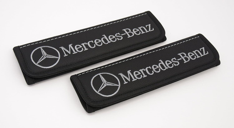 Amazon.com: Mercedes Benz piel Negro Correa de almohadillas ...