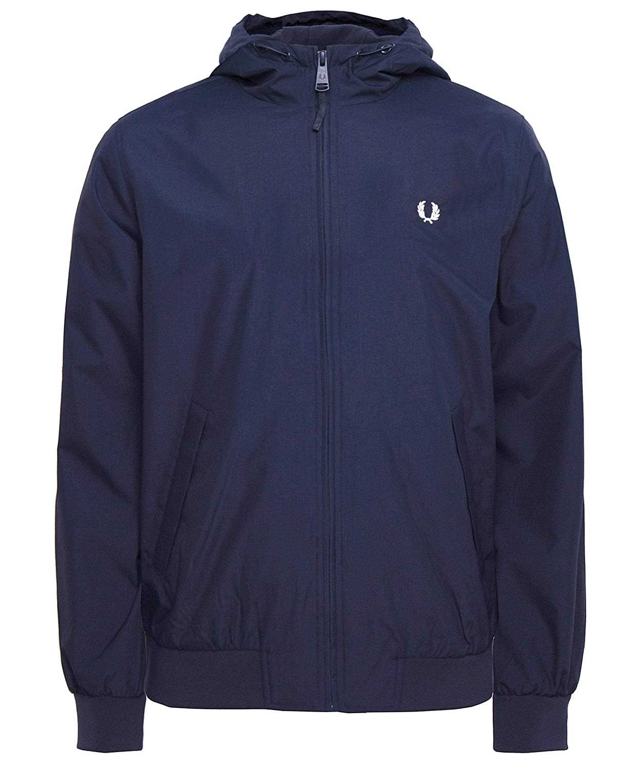 Fred Perry Men's Hooded Brentham Jacket Dark Airforce Blue (738)
