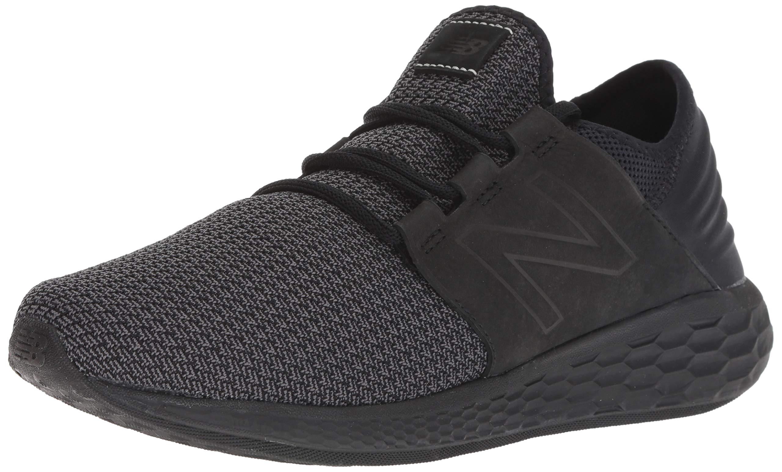 New Balance Men's Cruz V2 Fresh Foam Running Shoe, black, 7 D US