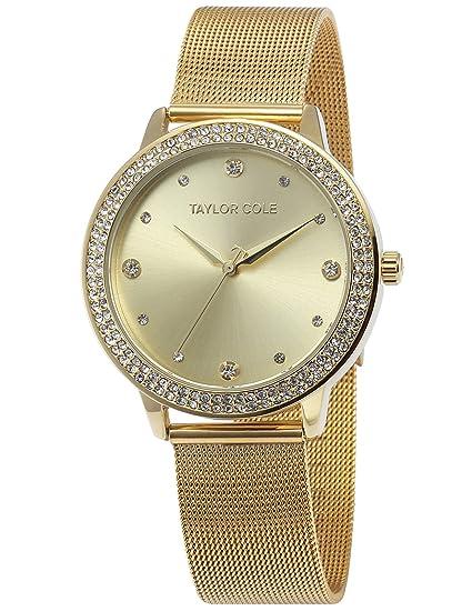 Taylor Cole TC072 - Reloj Mujer Cuarzo de Acero Inoxidable Dorado