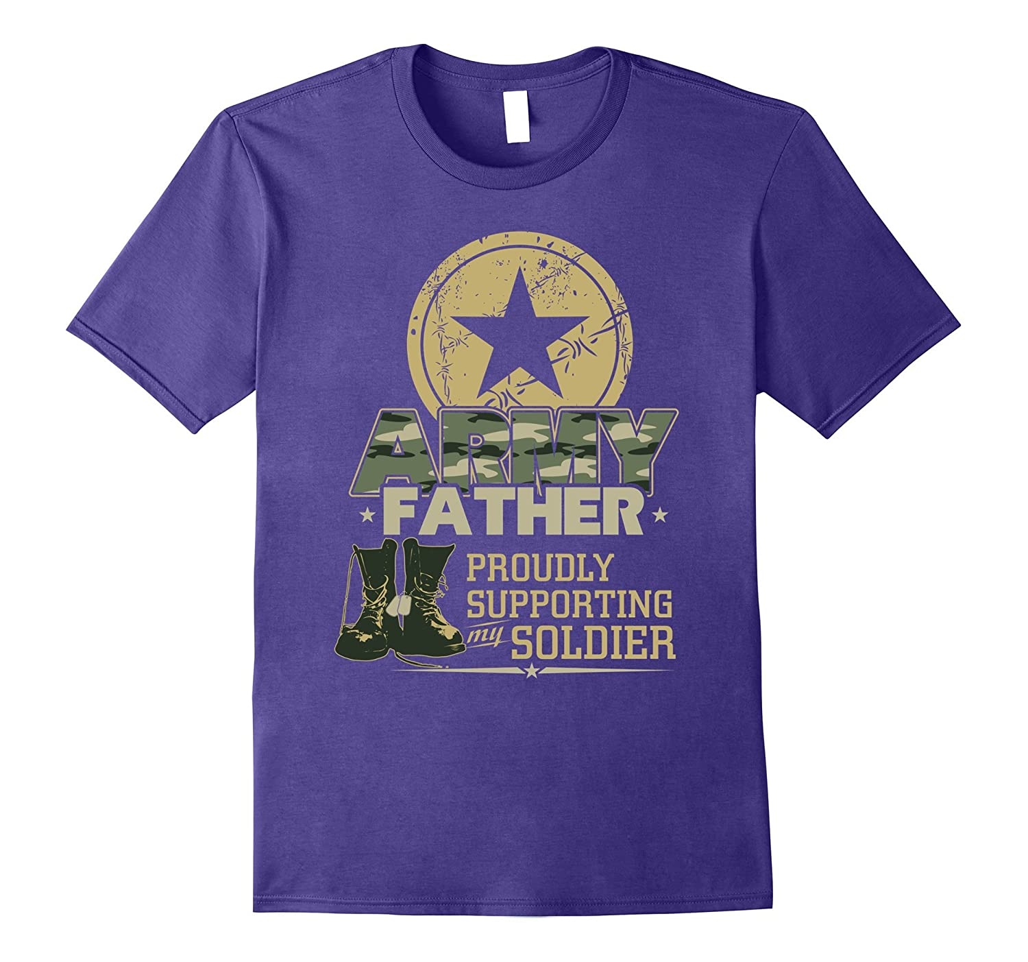Army Father Proudly Supporting My Soldier T-Shirt, Gift Dad