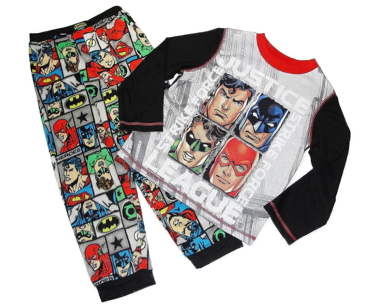 Justice League Superman Batman Flash Toddler Boy Shirt /& Pants Pajamas New 4T