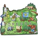 Oregon the Beaver State Artwood Jumbo Fridge Magnet