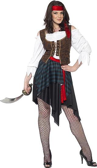 Smiffys - Disfraz de pirata para mujer, talla XXL (UK 24-26 ...