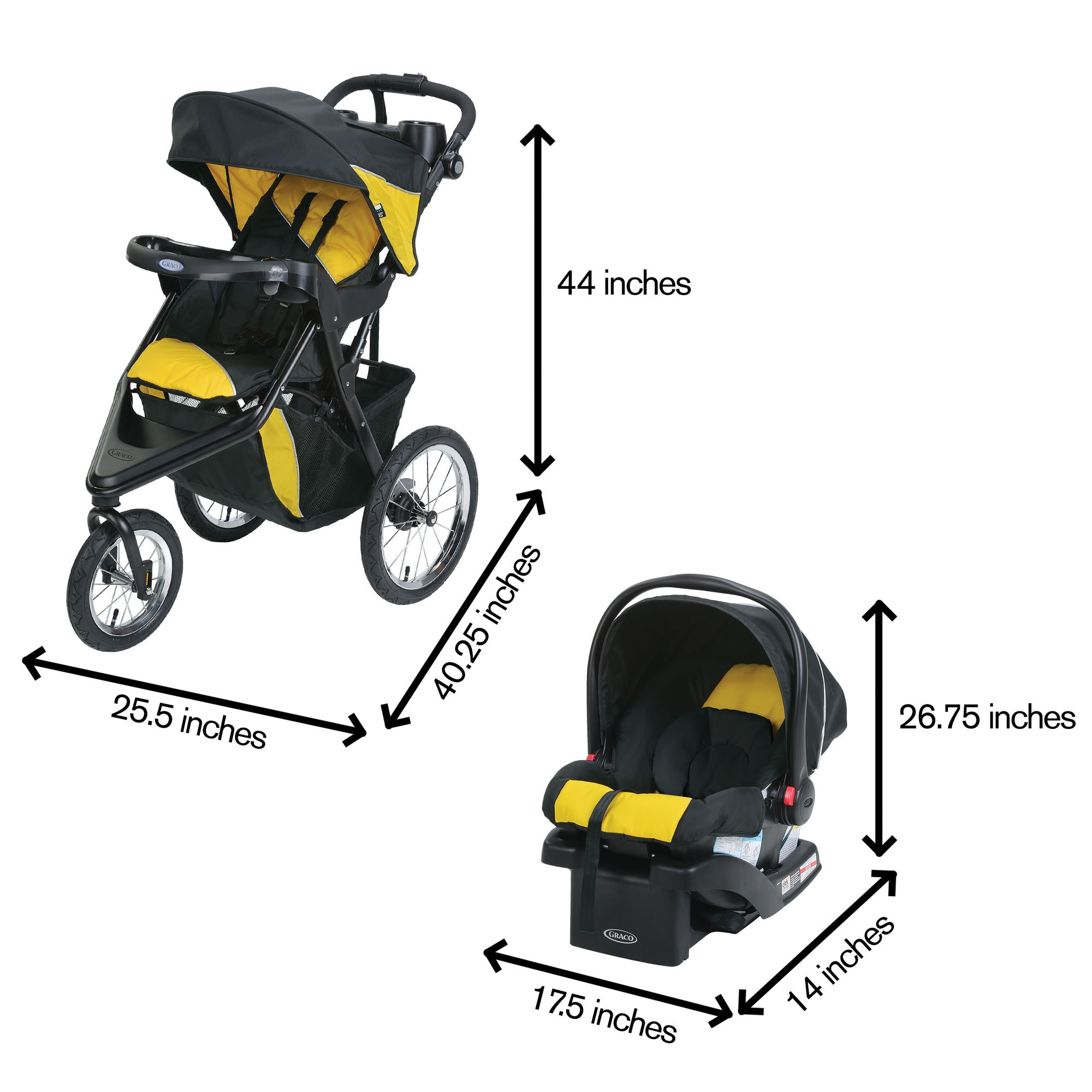 Graco Trax Click Connect Jogger Travel System by Graco (Image #7)