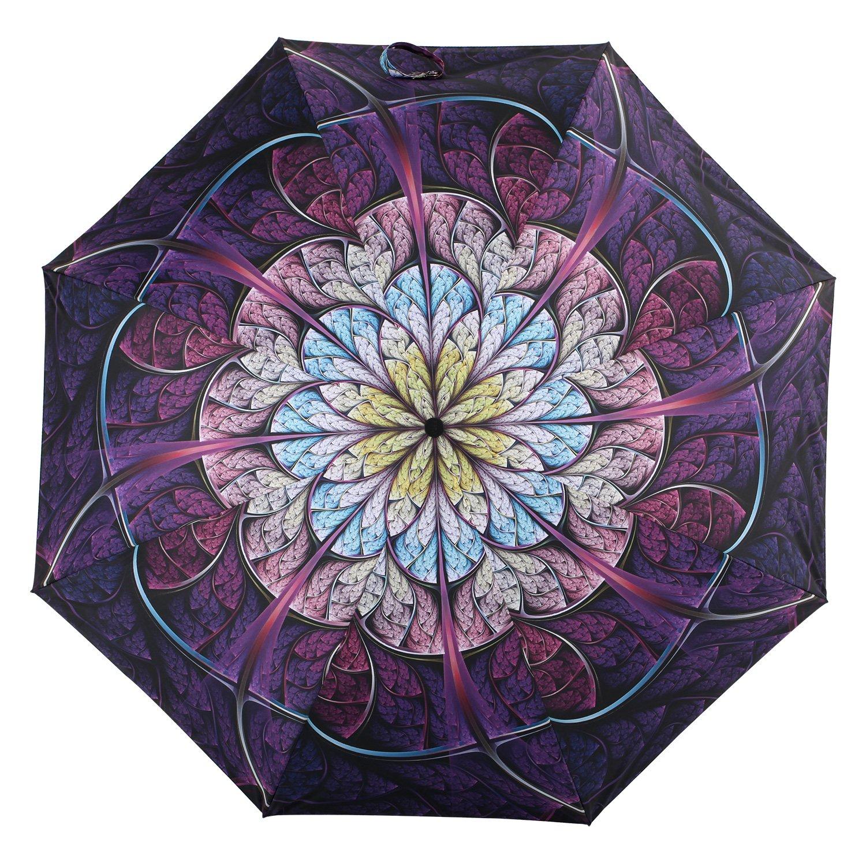 Amazon.com: Kobold Flor paraguas de doble capa 3 Fold Lluvia ...