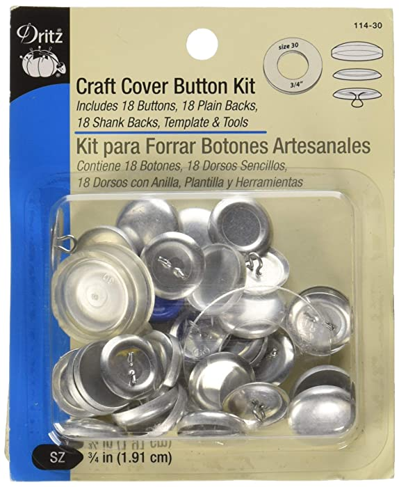 Dritz 114-30 Craft Cover Button Kit - Size 30