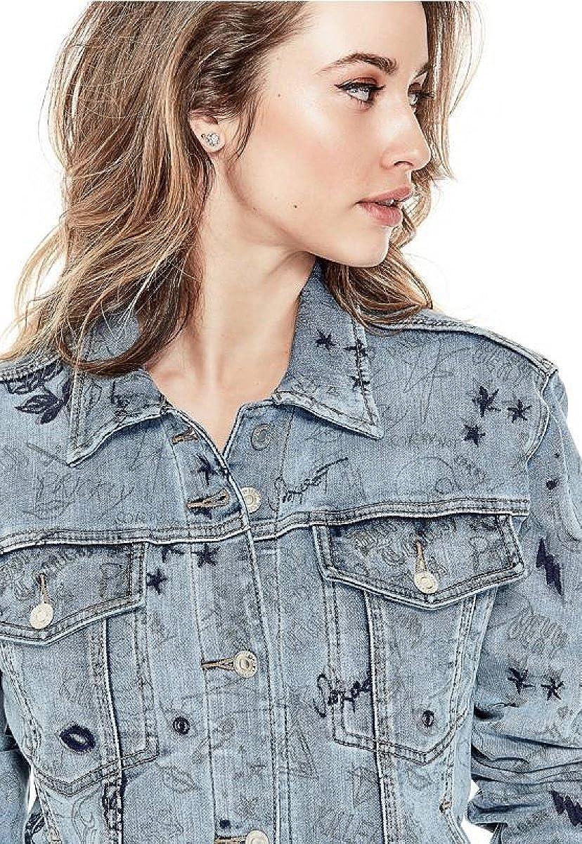 GUESS Womens Doodle Art Jacket