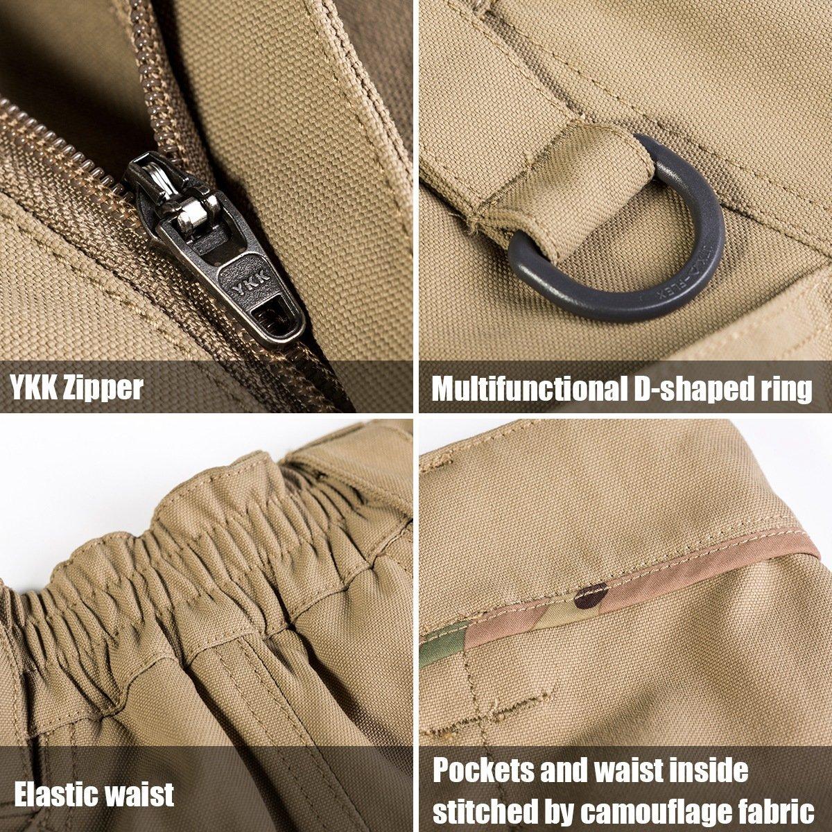 Free soldier pantalones de deporte para hombres aire al aire hombres libre pantalones de nylon resistente a los arañazos y resistente al agua con múltiples bolsillos(40