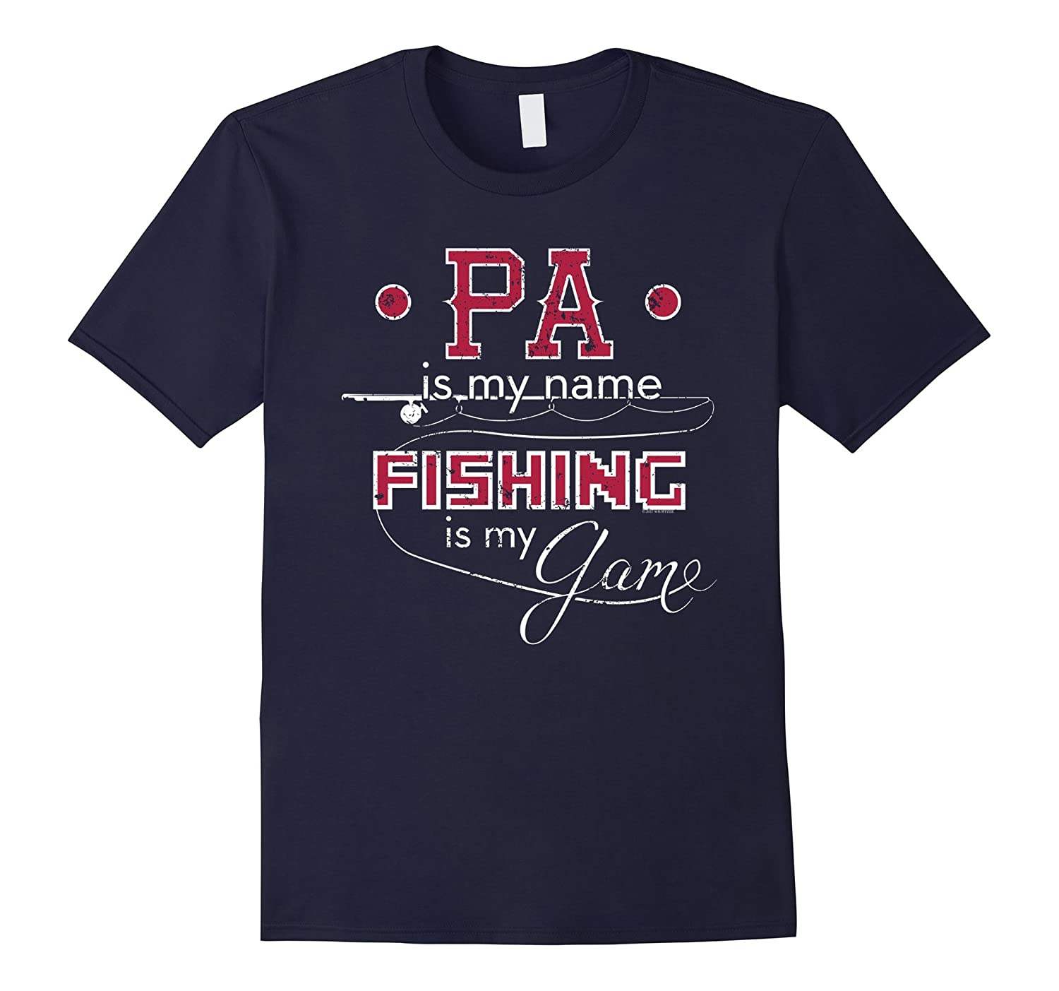 Bass Fishing Shirt Pa Name Fishing Game-TH