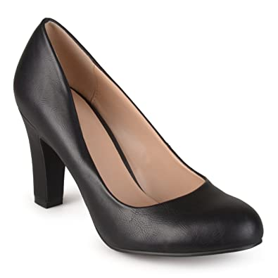 Amazon.com | Journee Collection Womens Matte Finish Chunky Heel ...