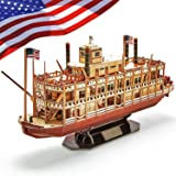 CubicFun 3D Vessel Puzzle Ship Models Toys Foam Puzzles Building Kits Gift for Adults and Kids, US Worldwide Trading Mississi