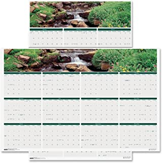 """product image for House of Doolittle 2016 Laminated Wipe Off Wall Calendar, 24"""" x 37"""", Earthscapes Waterfalls (HOD397-16)"""