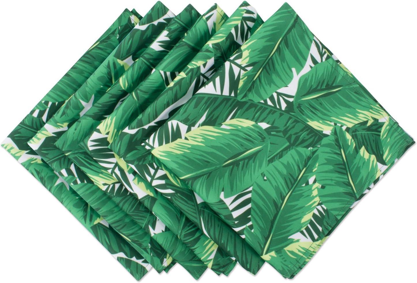 DII CAMZ37512 NP Outdoor Banana Leaf S/6, Napkins, 6 Count
