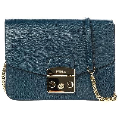 ae078cd5738cc Furla Metropolis sac bandoulière femme blu antico: Amazon.fr ...