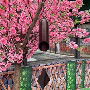 Agirlgle Large Wind Bell Wind Chimes Outdoor Indoor HWMC Heroic Windbell, 24-Inch Garden Wind Chimes for Patio and Terrace - Best Metal Musical Windchime Outdoor and Home Decoration