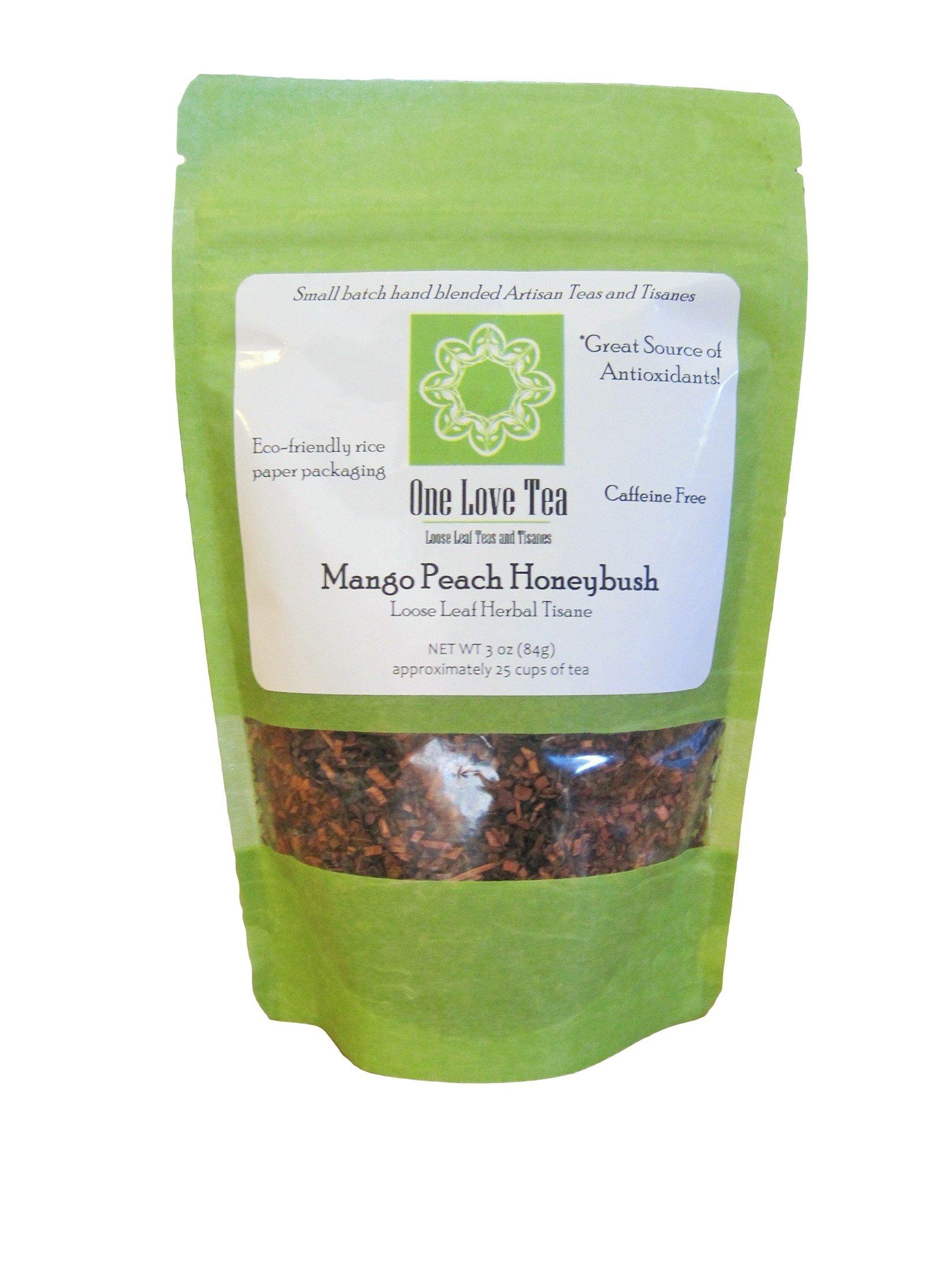 One Love Tea - Mango Peach Honeybush - 3 Oz Loose Leaf Herbal Tisane