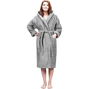 5a0bb3c4e0 Arus Men s Classic Hooded Bathrobe Turkish Cotton Terry Cloth Robe ...