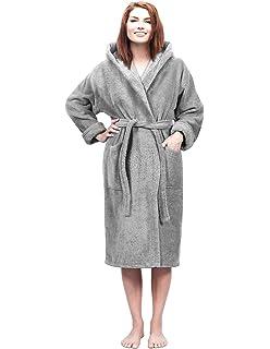 Pierre Roche Men s Towelling Bath Robe with Hood - Cotton Terry ... efc354e71