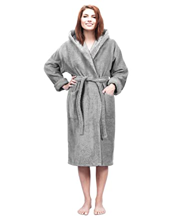 f4e0ae01ab33a Hooded Terry Bathrobe for Women and Men, Turkish Cotton Terry Cloth Robe at  Amazon Men's Clothing store: