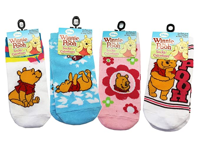 Disneys Winnie the Pooh Assorted Color/Design Socks (3 Pairs, ...