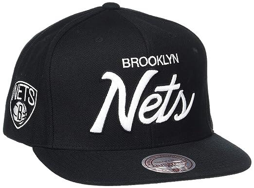 Mitchell & Ness – Gorra de hombre el Brooklyn Nets sólido Script ...
