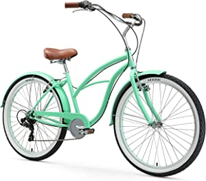 sixthreezero Women's 7-Speed Beach Cruiser Bicycle