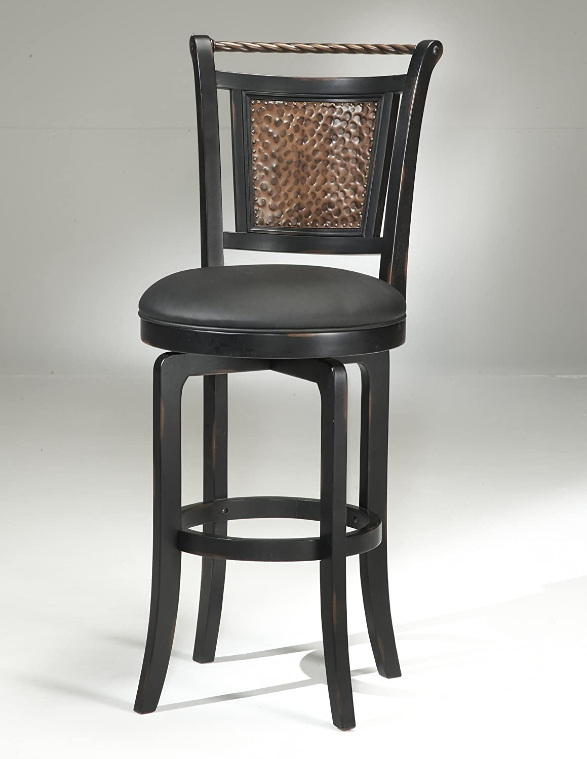 Amazon.com Hillsdale Norwood 26.5  Swivel Counter Bar Stool in Black Kitchen u0026 Dining : swivel counter stool with back - islam-shia.org