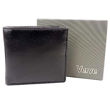1d4b60a13b7a43 Mala Leather Men's Bi-Fold Leather Wallet By Verve Gift Boxed Mala One Size  Black