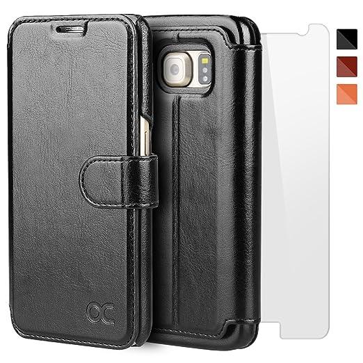 96 opinioni per OCASE Cover Samsung Galaxy S6 [Portafoglio] [pellicola vetro temperato schermo
