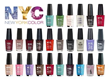 Amazon Com Lot Of Nyc In A New York Minute Nail Polish Gift Set 10
