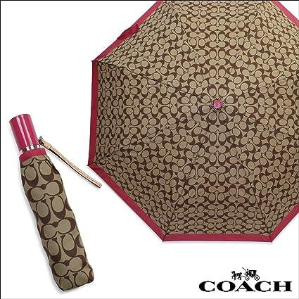 COACH Signature Print Compact Folding Umbrella F63364