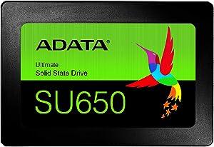 "ADATA SU650 480GB 3D-NAND 2.5"" SATA III High Speed Read Up to 520MB/S Internal SSD (ASU650SS-480GT-R)"
