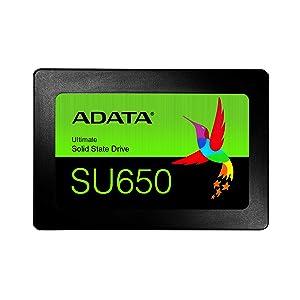 """ADATA SU650 Unidad de Estado sólido 2.5"""" 960 GB Serial ATA III SLC - Disco Duro sólido (960 GB, 2.5"""", 520 MB/s, 6 Gbit/s)"""