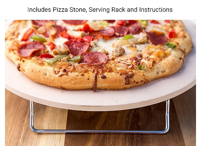 Amazon Jamie Oliver Pizza Stone And Serving Rack Round
