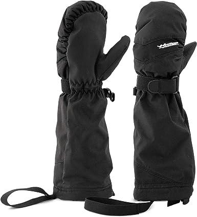outdoor warm waterproof windproof gloves Stoertuy childrens winter thick mittens