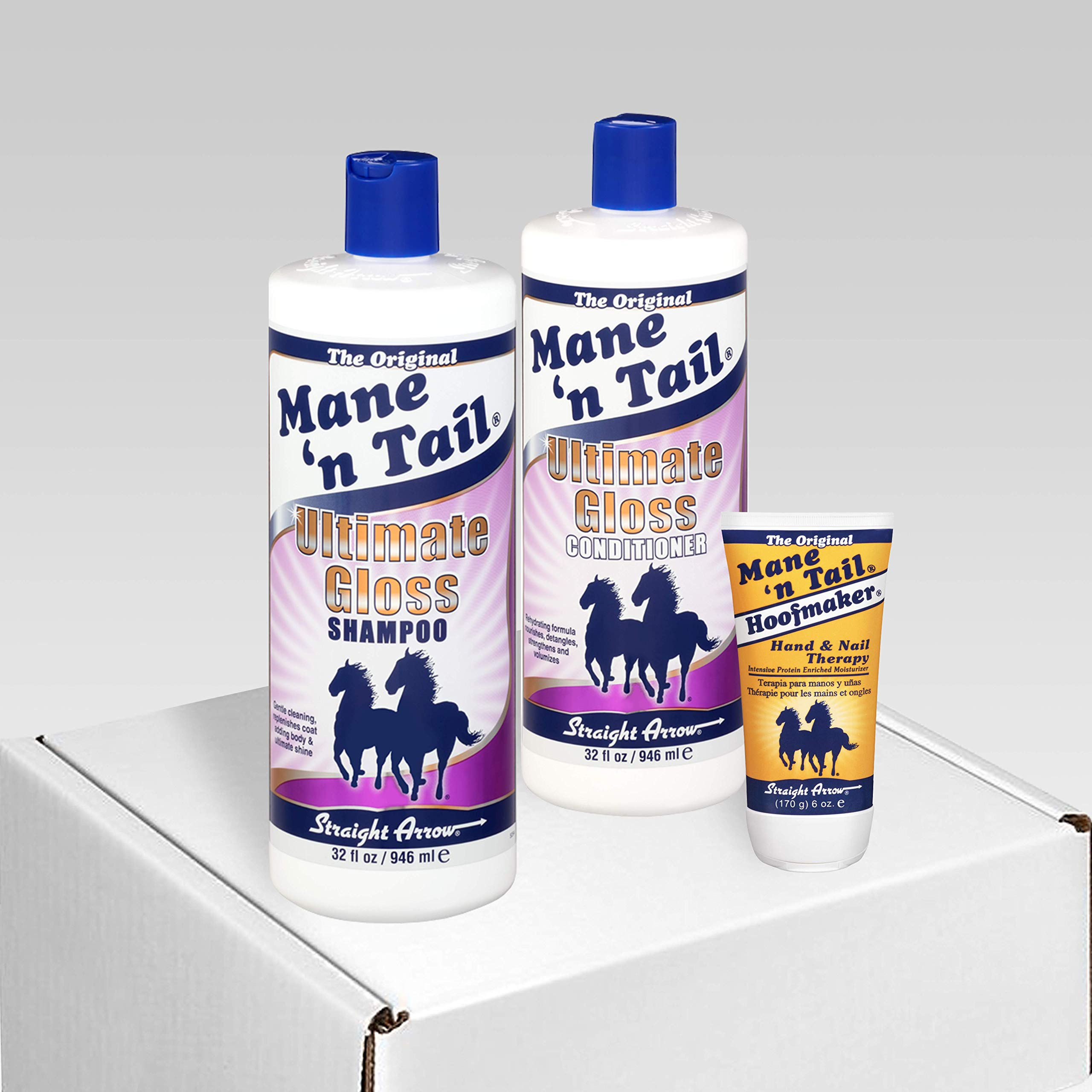 Mane 'n Tail NEW Ultimate Gloss Shampoo 32 Ounce/Ultimate Gloss Conditioner 32 Ounce with Coconut Oil/Free Hoofmaker Tube by Mane 'n Tail (Image #1)