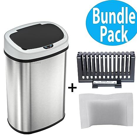 Amazon.com: SensorCan Cubo de basura automático, con ...